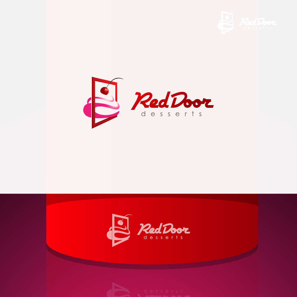 Logo Design by zesthar - Entry No. 23 in the Logo Design Contest Fun Logo Design for Red Door Desserts.