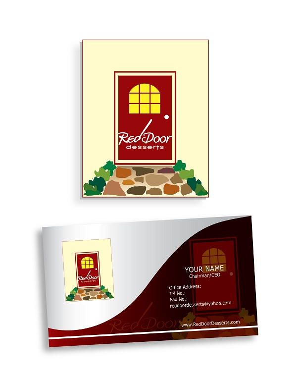 Logo Design by kowreck - Entry No. 36 in the Logo Design Contest Fun Logo Design for Red Door Desserts.