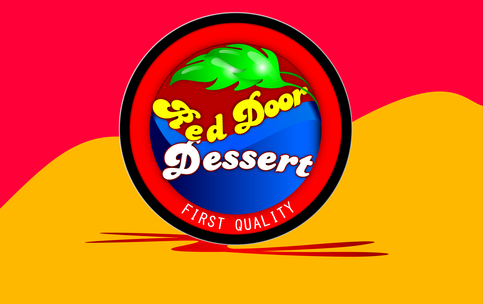Logo Design by Md Iftekharul Islam Pavel - Entry No. 38 in the Logo Design Contest Fun Logo Design for Red Door Desserts.