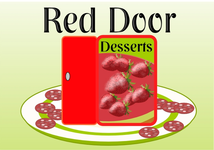 Logo Design by Private User - Entry No. 43 in the Logo Design Contest Fun Logo Design for Red Door Desserts.