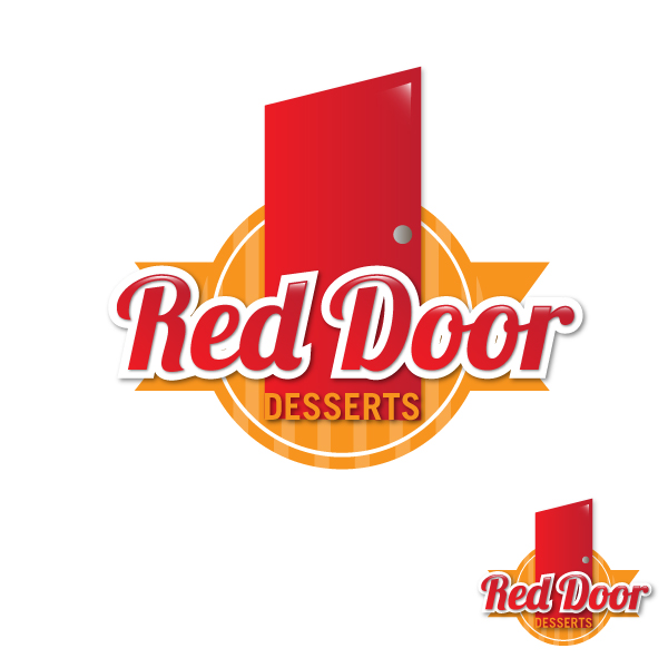 Logo Design by lumerb - Entry No. 46 in the Logo Design Contest Fun Logo Design for Red Door Desserts.