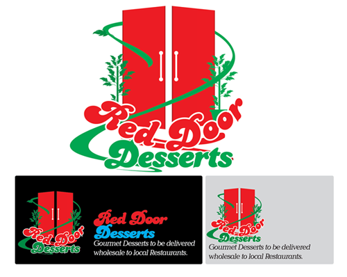 Logo Design by Md Iftekharul Islam Pavel - Entry No. 47 in the Logo Design Contest Fun Logo Design for Red Door Desserts.