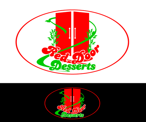 Logo Design by Md Iftekharul Islam Pavel - Entry No. 48 in the Logo Design Contest Fun Logo Design for Red Door Desserts.