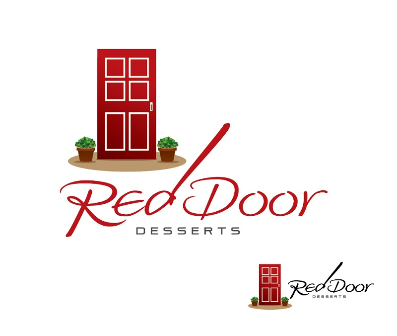 Logo Design by kowreck - Entry No. 54 in the Logo Design Contest Fun Logo Design for Red Door Desserts.