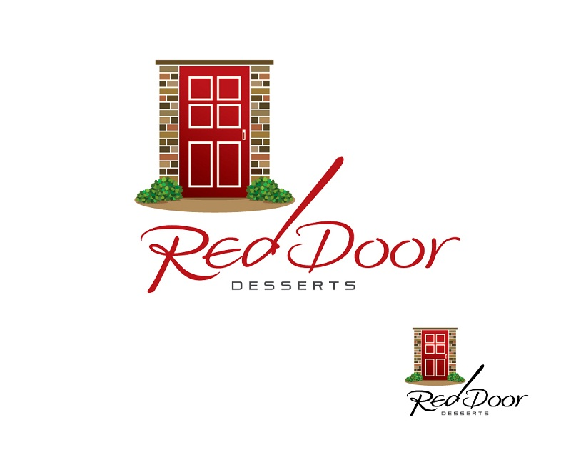 Logo Design by kowreck - Entry No. 57 in the Logo Design Contest Fun Logo Design for Red Door Desserts.