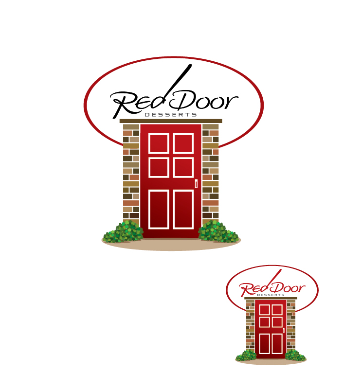 Logo Design by kowreck - Entry No. 59 in the Logo Design Contest Fun Logo Design for Red Door Desserts.