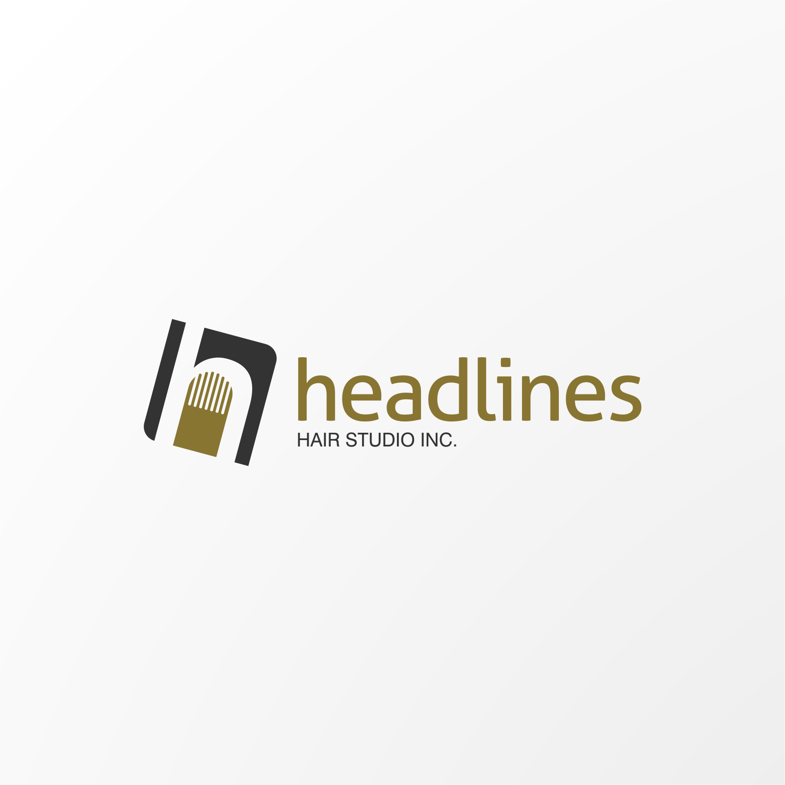 Logo Design by Hermeneutic - Entry No. 1 in the Logo Design Contest Fun Logo Design for HEADLINES HAIR STUDIO INC.