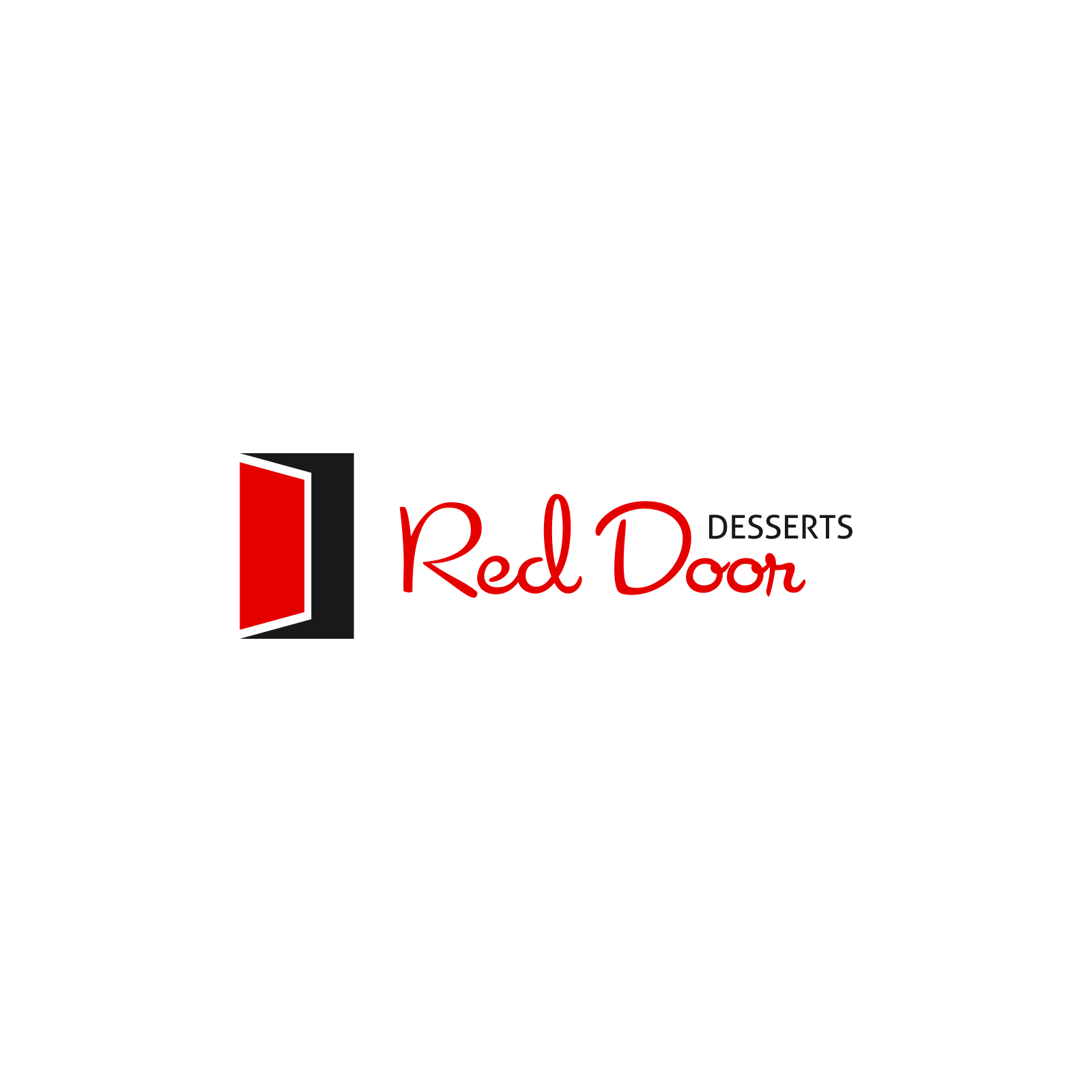 Logo Design by Hermeneutic - Entry No. 62 in the Logo Design Contest Fun Logo Design for Red Door Desserts.