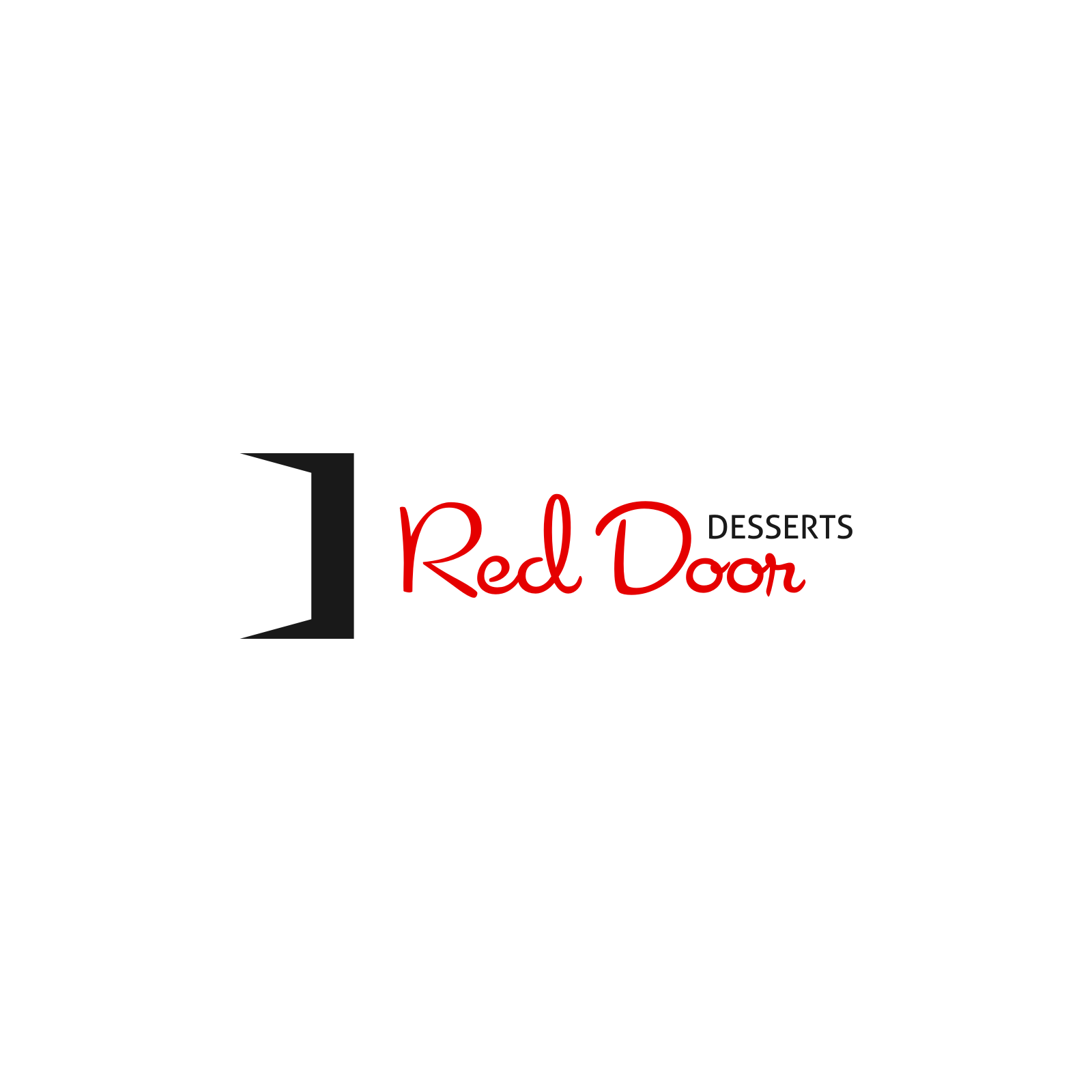 Logo Design by Hermeneutic - Entry No. 63 in the Logo Design Contest Fun Logo Design for Red Door Desserts.