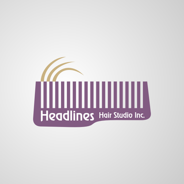 Logo Design by Rudy - Entry No. 2 in the Logo Design Contest Fun Logo Design for HEADLINES HAIR STUDIO INC.