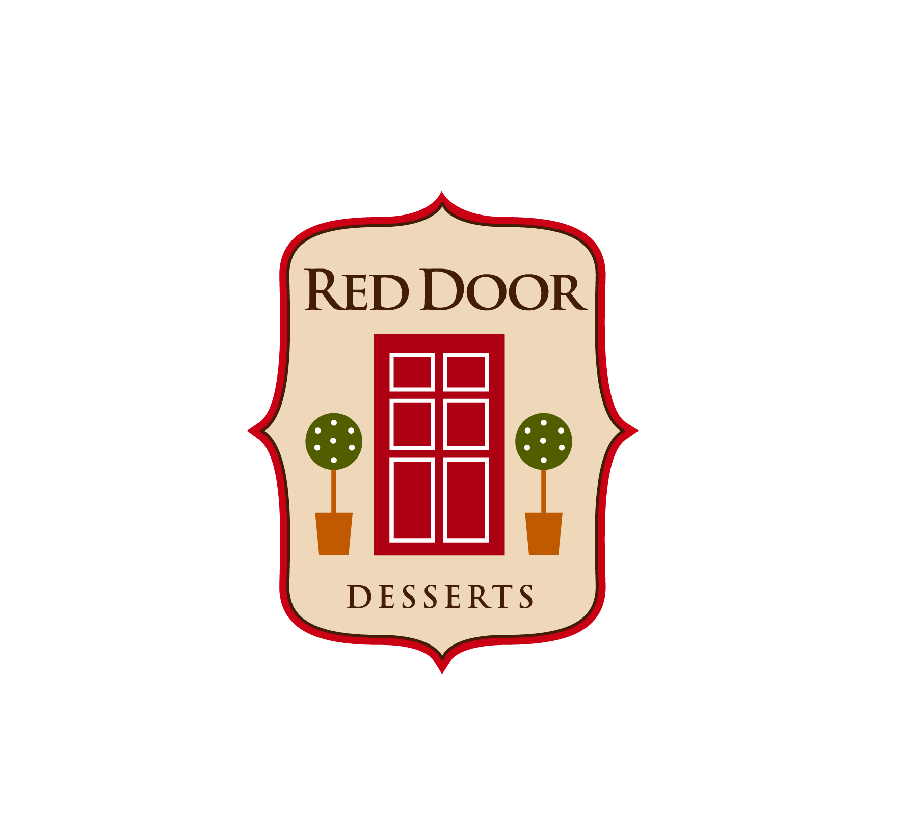 Logo Design by luna - Entry No. 69 in the Logo Design Contest Fun Logo Design for Red Door Desserts.