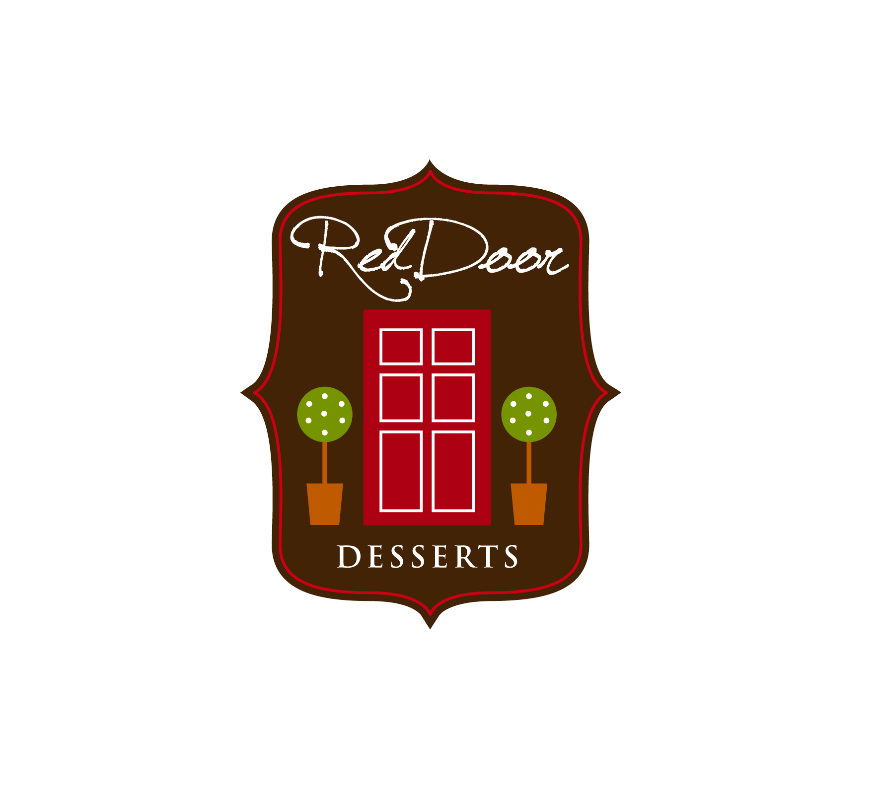Logo Design by luna - Entry No. 70 in the Logo Design Contest Fun Logo Design for Red Door Desserts.