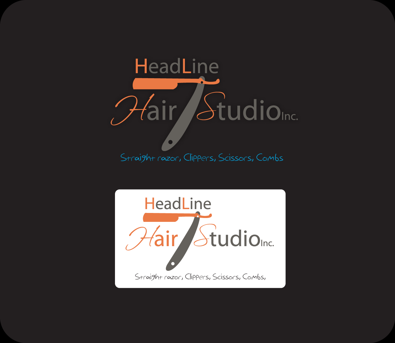 Logo Design by Md Iftekharul Islam Pavel - Entry No. 6 in the Logo Design Contest Fun Logo Design for HEADLINES HAIR STUDIO INC.