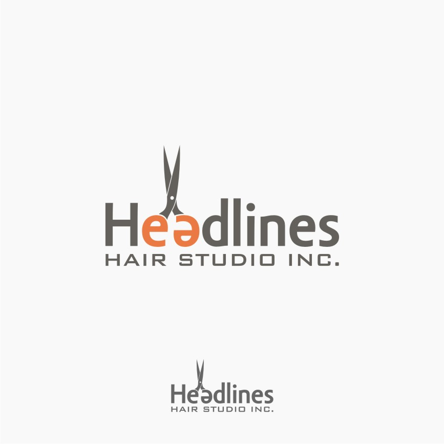 Logo Design by graphicleaf - Entry No. 8 in the Logo Design Contest Fun Logo Design for HEADLINES HAIR STUDIO INC.