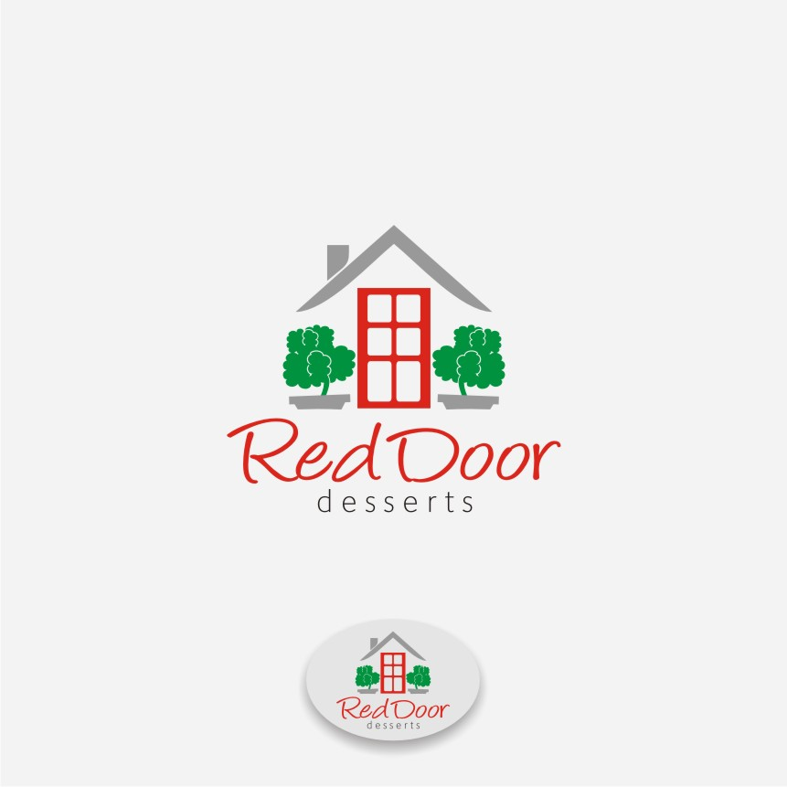 Logo Design by graphicleaf - Entry No. 82 in the Logo Design Contest Fun Logo Design for Red Door Desserts.