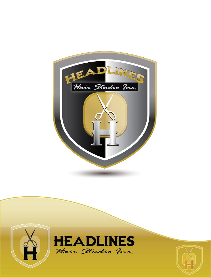 Logo Design by kowreck - Entry No. 12 in the Logo Design Contest Fun Logo Design for HEADLINES HAIR STUDIO INC.