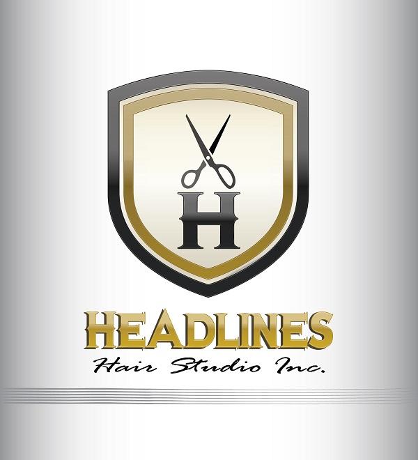 Logo Design by kowreck - Entry No. 13 in the Logo Design Contest Fun Logo Design for HEADLINES HAIR STUDIO INC.