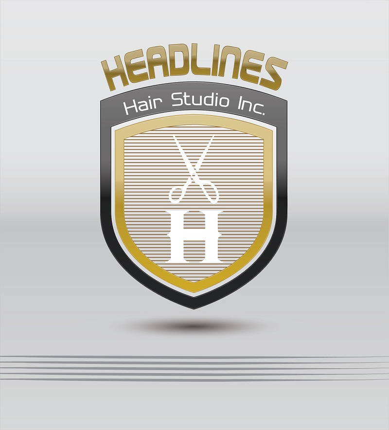 Logo Design by kowreck - Entry No. 16 in the Logo Design Contest Fun Logo Design for HEADLINES HAIR STUDIO INC.