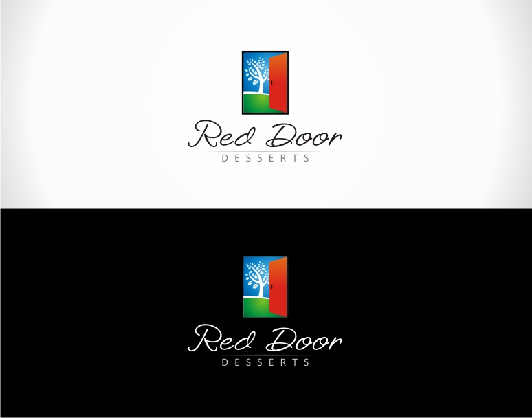 Logo Design by jirolupat - Entry No. 87 in the Logo Design Contest Fun Logo Design for Red Door Desserts.