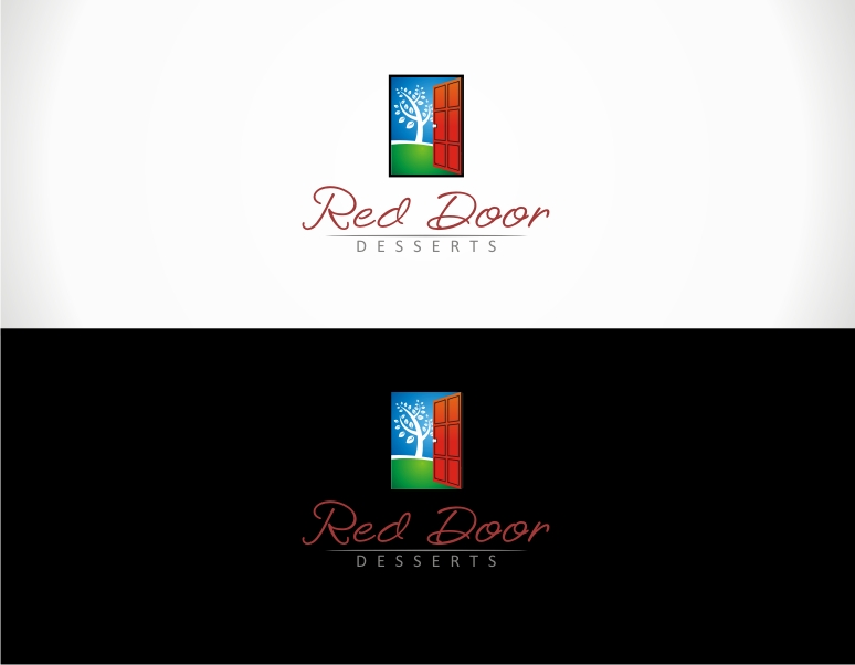 Logo Design by jirolupat - Entry No. 88 in the Logo Design Contest Fun Logo Design for Red Door Desserts.