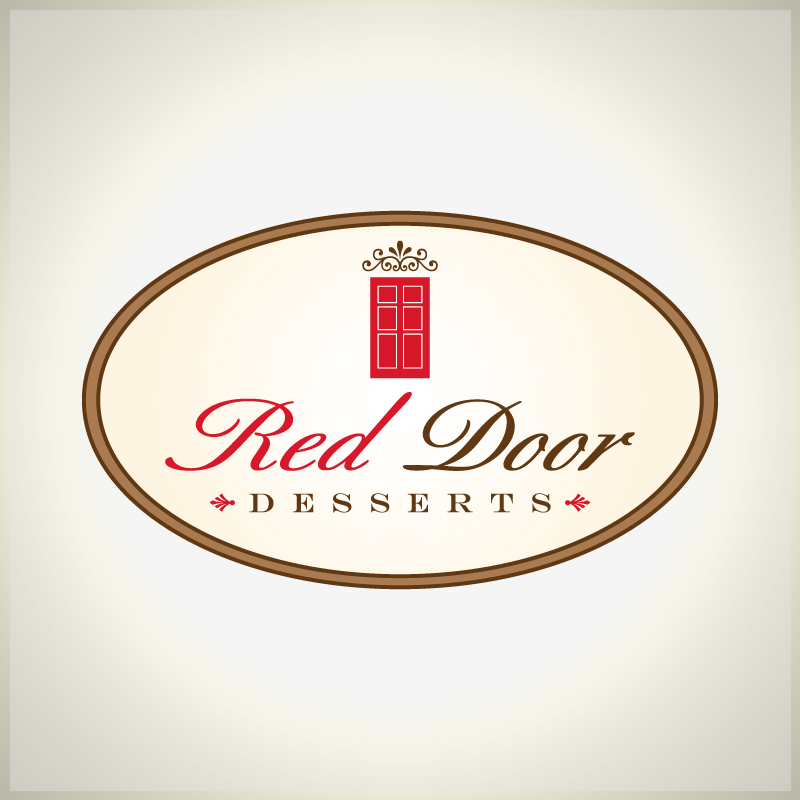 Logo Design by Number-Eight-Design - Entry No. 89 in the Logo Design Contest Fun Logo Design for Red Door Desserts.