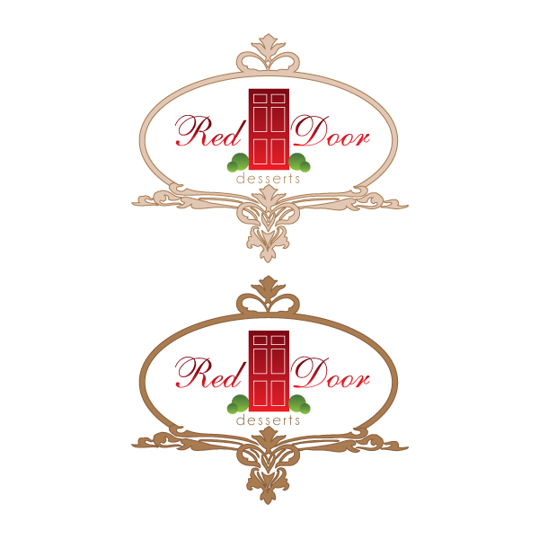 Logo Design by Private User - Entry No. 90 in the Logo Design Contest Fun Logo Design for Red Door Desserts.