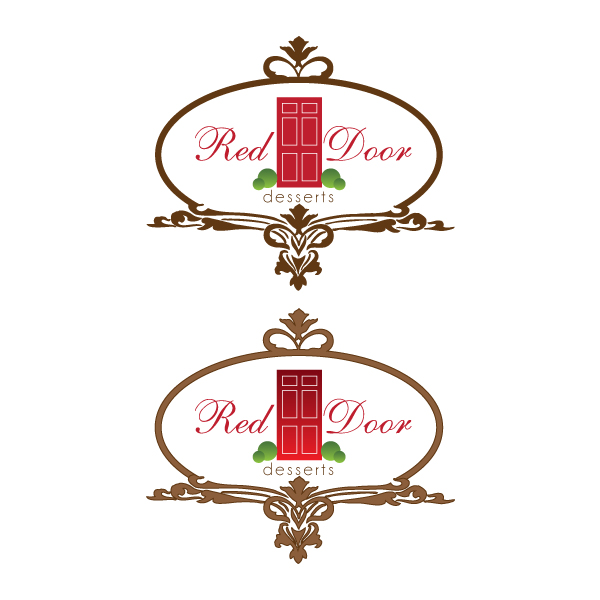 Logo Design by Private User - Entry No. 91 in the Logo Design Contest Fun Logo Design for Red Door Desserts.
