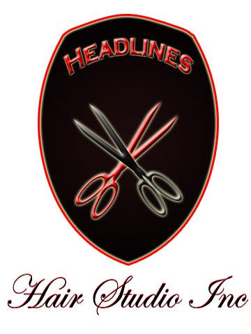 Logo Design by Moag - Entry No. 18 in the Logo Design Contest Fun Logo Design for HEADLINES HAIR STUDIO INC.