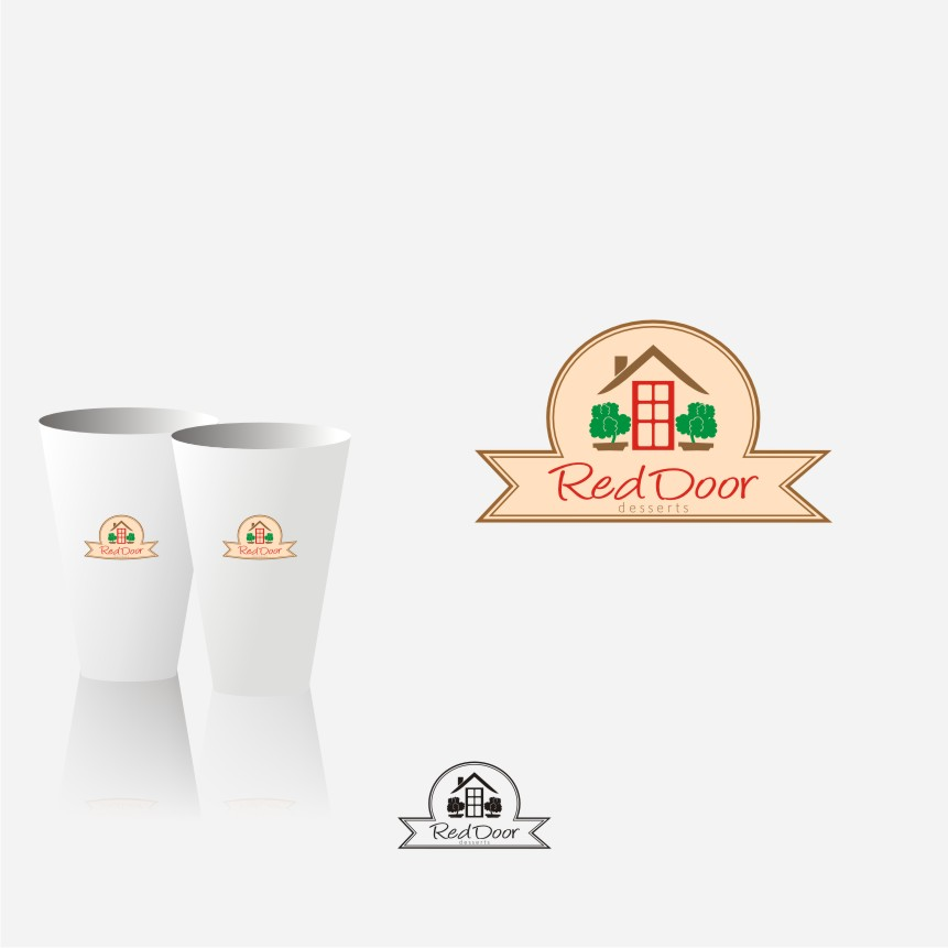 Logo Design by graphicleaf - Entry No. 93 in the Logo Design Contest Fun Logo Design for Red Door Desserts.