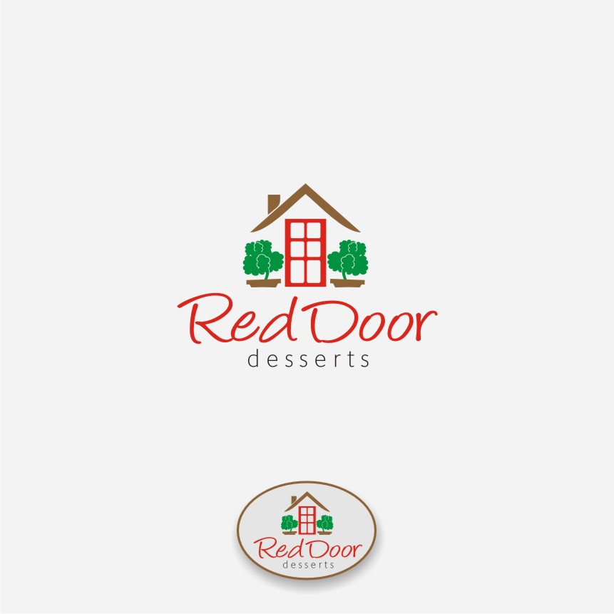 Logo Design by graphicleaf - Entry No. 95 in the Logo Design Contest Fun Logo Design for Red Door Desserts.