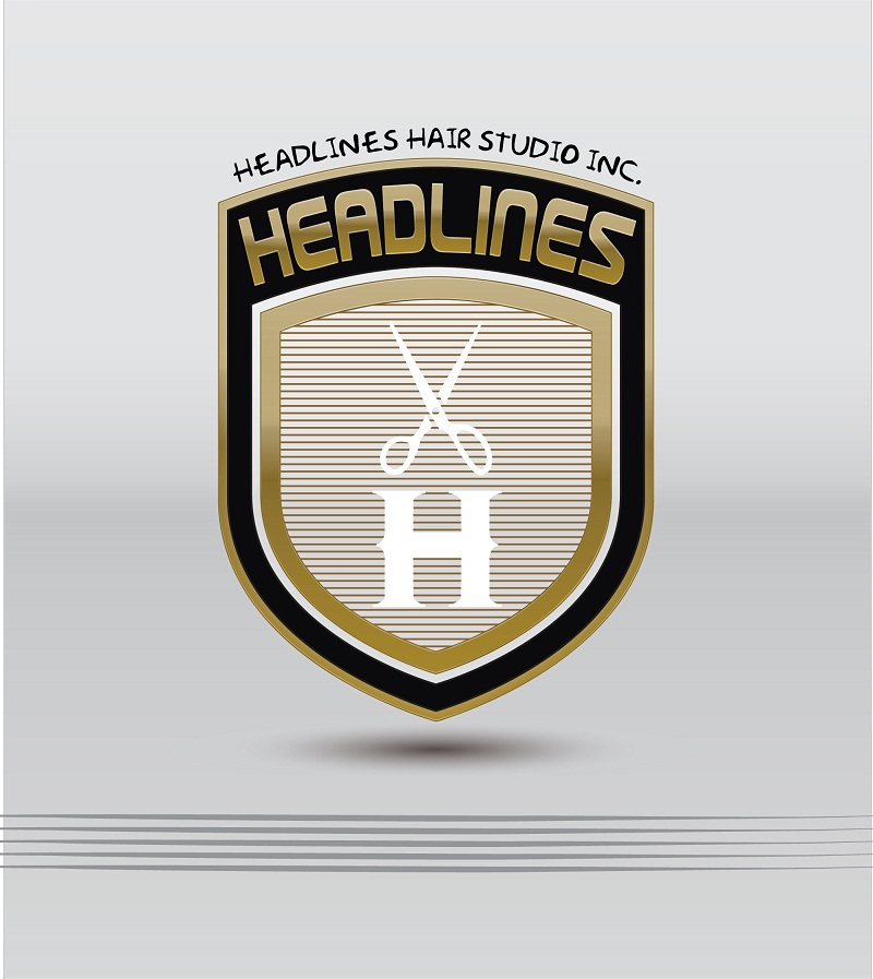 Logo Design by kowreck - Entry No. 19 in the Logo Design Contest Fun Logo Design for HEADLINES HAIR STUDIO INC.