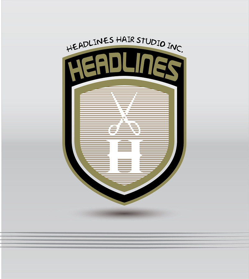 Logo Design by kowreck - Entry No. 20 in the Logo Design Contest Fun Logo Design for HEADLINES HAIR STUDIO INC.