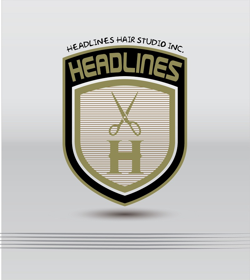 Logo Design by kowreck - Entry No. 21 in the Logo Design Contest Fun Logo Design for HEADLINES HAIR STUDIO INC.