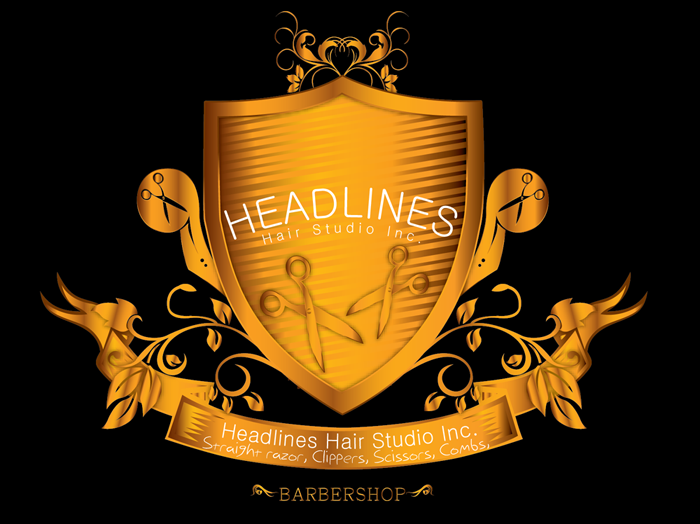 Logo Design by Md Iftekharul Islam Pavel - Entry No. 22 in the Logo Design Contest Fun Logo Design for HEADLINES HAIR STUDIO INC.