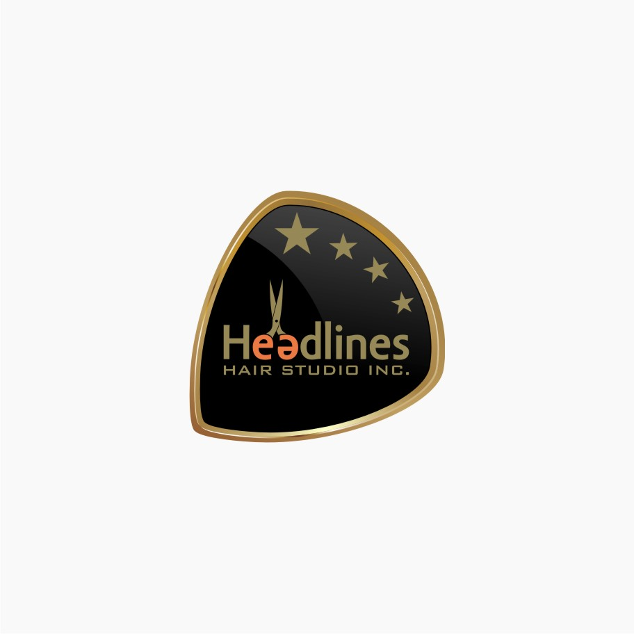 Logo Design by graphicleaf - Entry No. 24 in the Logo Design Contest Fun Logo Design for HEADLINES HAIR STUDIO INC.