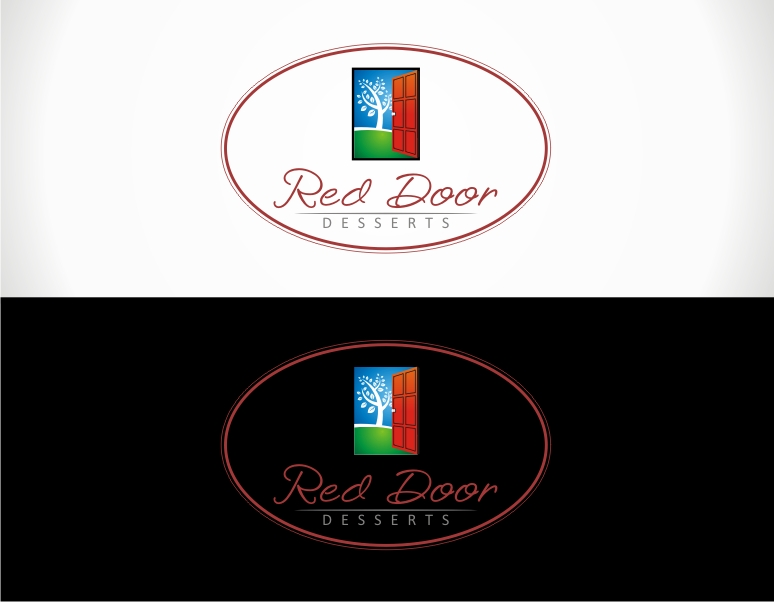Logo Design by jirolupat - Entry No. 102 in the Logo Design Contest Fun Logo Design for Red Door Desserts.