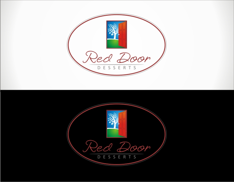 Logo Design by jirolupat - Entry No. 104 in the Logo Design Contest Fun Logo Design for Red Door Desserts.