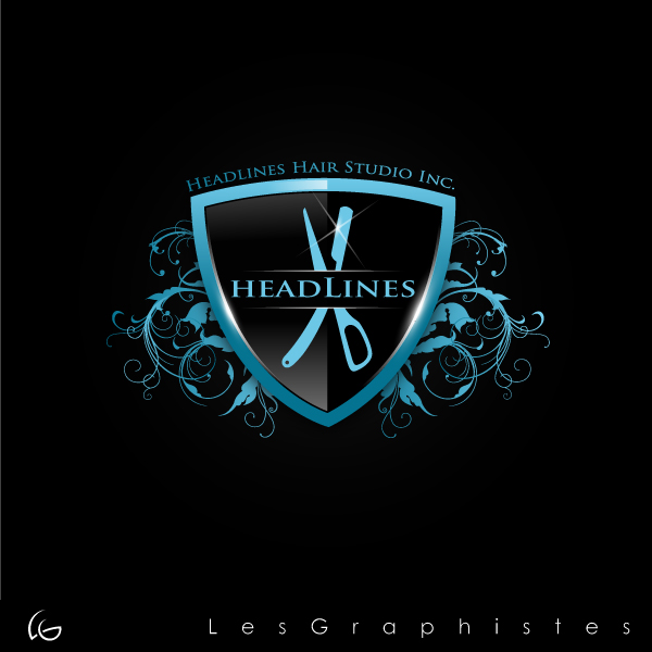 Logo Design by Les-Graphistes - Entry No. 27 in the Logo Design Contest Fun Logo Design for HEADLINES HAIR STUDIO INC.