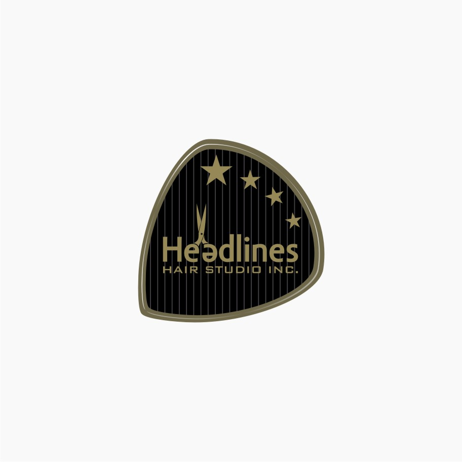 Logo Design by graphicleaf - Entry No. 28 in the Logo Design Contest Fun Logo Design for HEADLINES HAIR STUDIO INC.