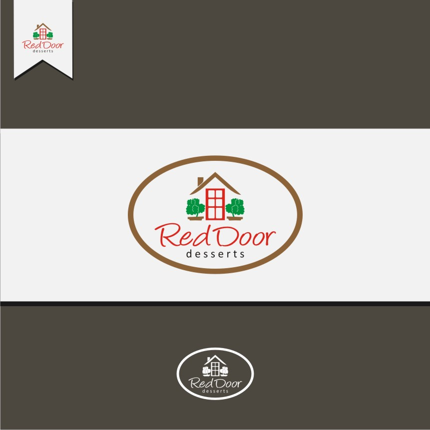 Logo Design by graphicleaf - Entry No. 112 in the Logo Design Contest Fun Logo Design for Red Door Desserts.