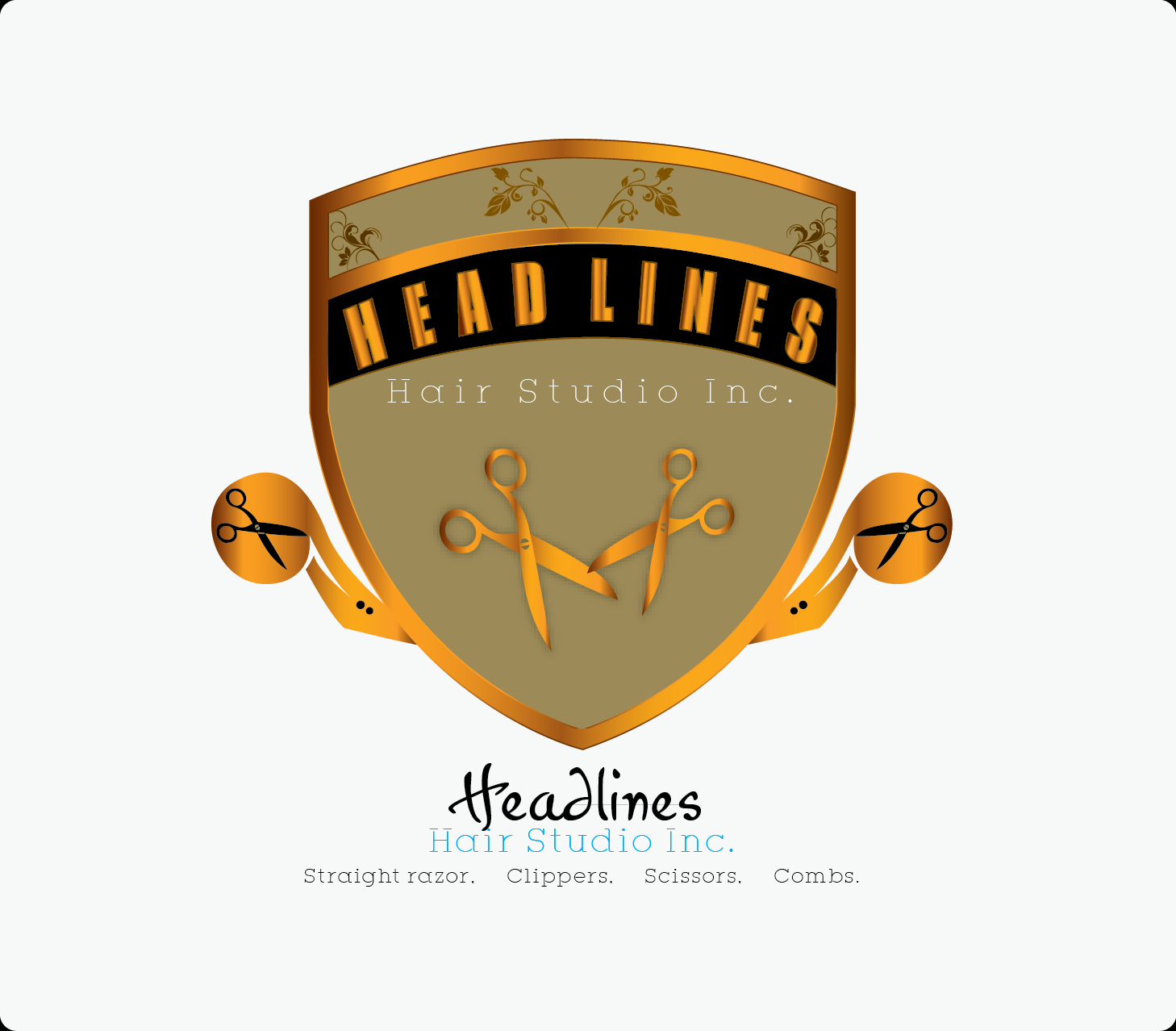 Logo Design by Md Iftekharul Islam Pavel - Entry No. 29 in the Logo Design Contest Fun Logo Design for HEADLINES HAIR STUDIO INC.