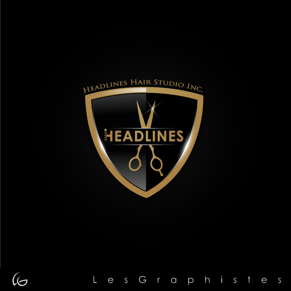 Logo Design by Les-Graphistes - Entry No. 30 in the Logo Design Contest Fun Logo Design for HEADLINES HAIR STUDIO INC.
