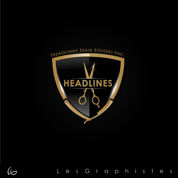 Logo Design by Les-Graphistes - Entry No. 31 in the Logo Design Contest Fun Logo Design for HEADLINES HAIR STUDIO INC.