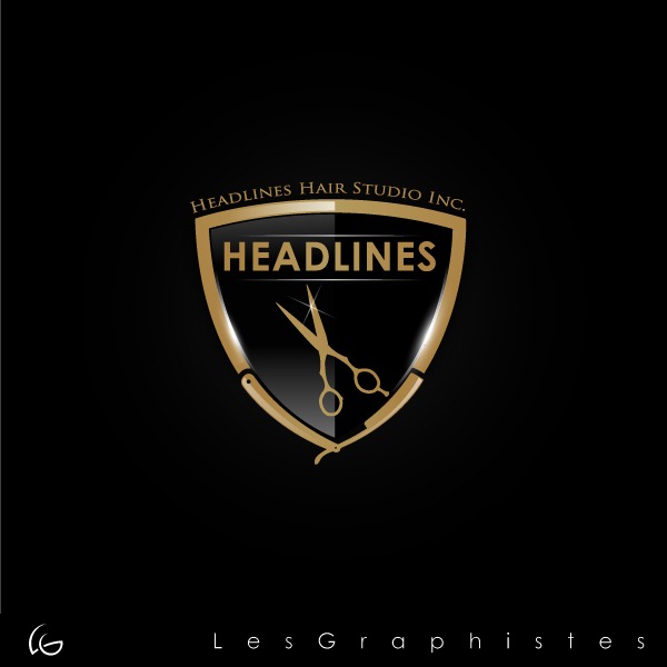 Logo Design by Les-Graphistes - Entry No. 32 in the Logo Design Contest Fun Logo Design for HEADLINES HAIR STUDIO INC.