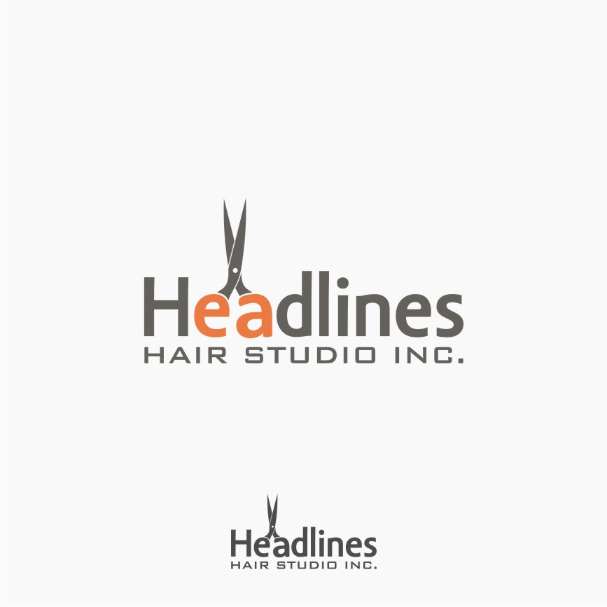 Logo Design by Muhammad Nasrul chasib - Entry No. 34 in the Logo Design Contest Fun Logo Design for HEADLINES HAIR STUDIO INC.