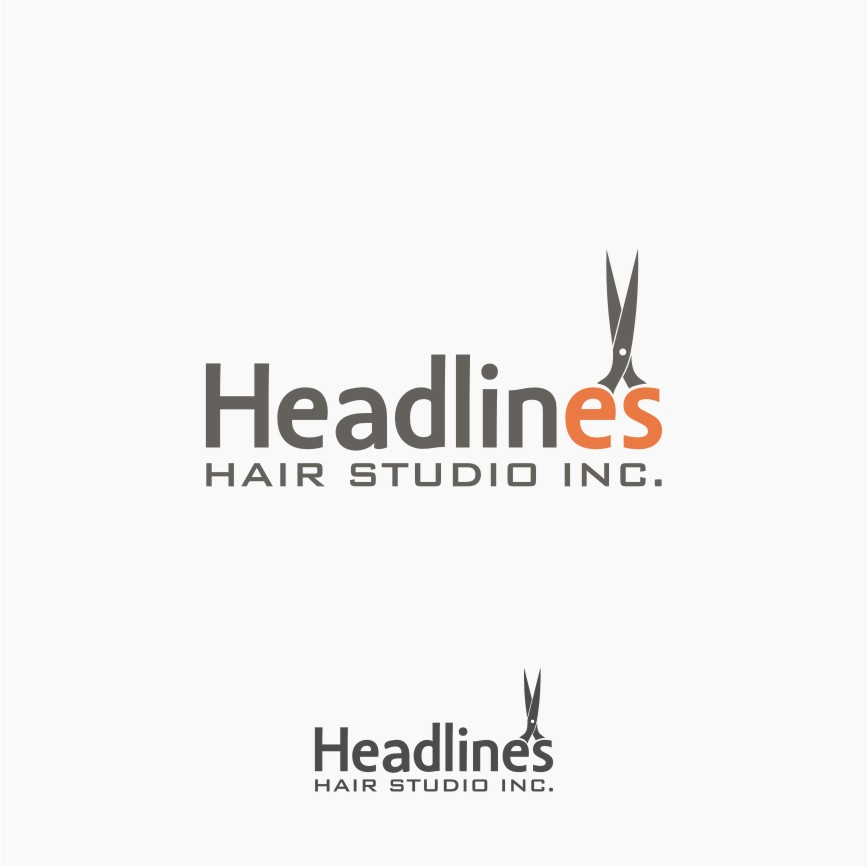 Logo Design by graphicleaf - Entry No. 35 in the Logo Design Contest Fun Logo Design for HEADLINES HAIR STUDIO INC.