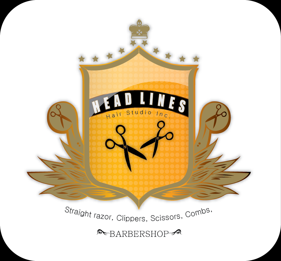 Logo Design by Md Iftekharul Islam Pavel - Entry No. 36 in the Logo Design Contest Fun Logo Design for HEADLINES HAIR STUDIO INC.
