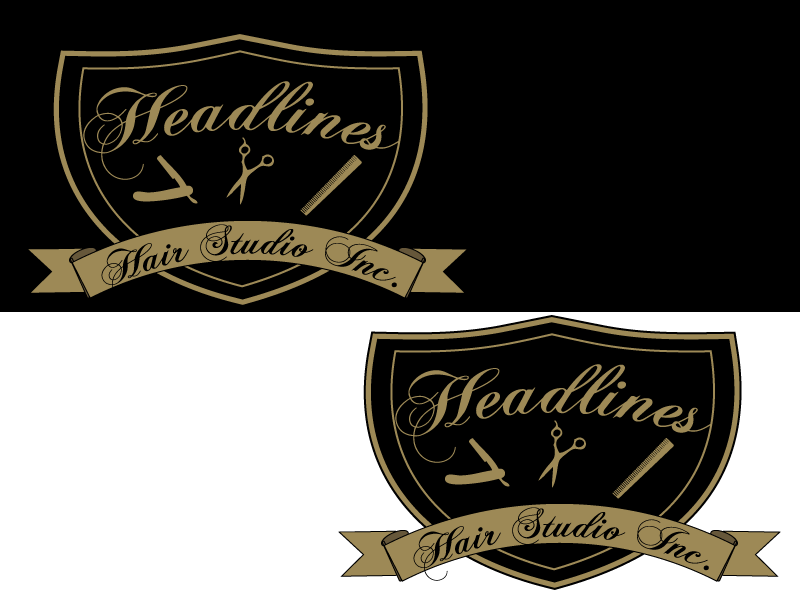 Logo Design by Carol - Entry No. 37 in the Logo Design Contest Fun Logo Design for HEADLINES HAIR STUDIO INC.