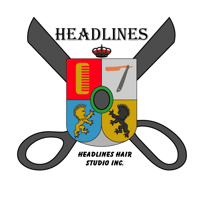 Logo Design by Private User - Entry No. 40 in the Logo Design Contest Fun Logo Design for HEADLINES HAIR STUDIO INC.