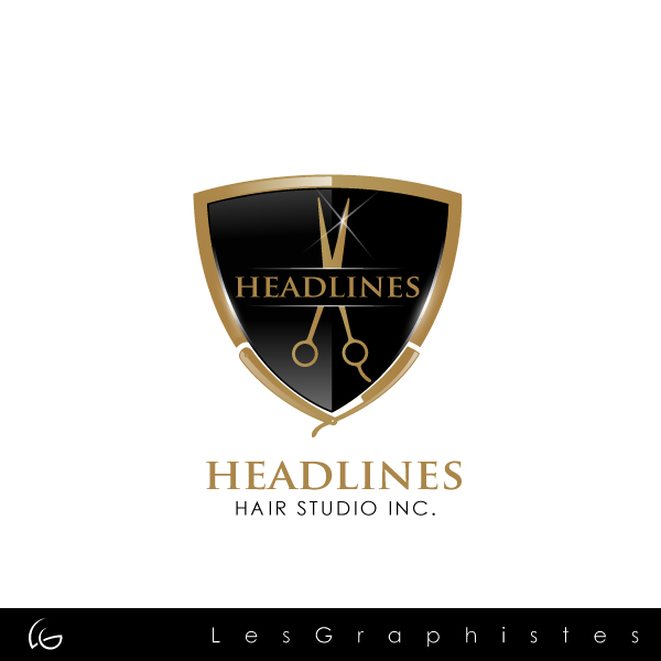 Logo Design Contests Fun Logo Design For Headlines Hair Studio Inc Design No 34 By Graphicleaf Hiretheworld